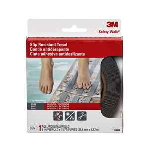 3M  Gray  Anti-Slip Tape  1 in. W x 180 in. L 1 pk