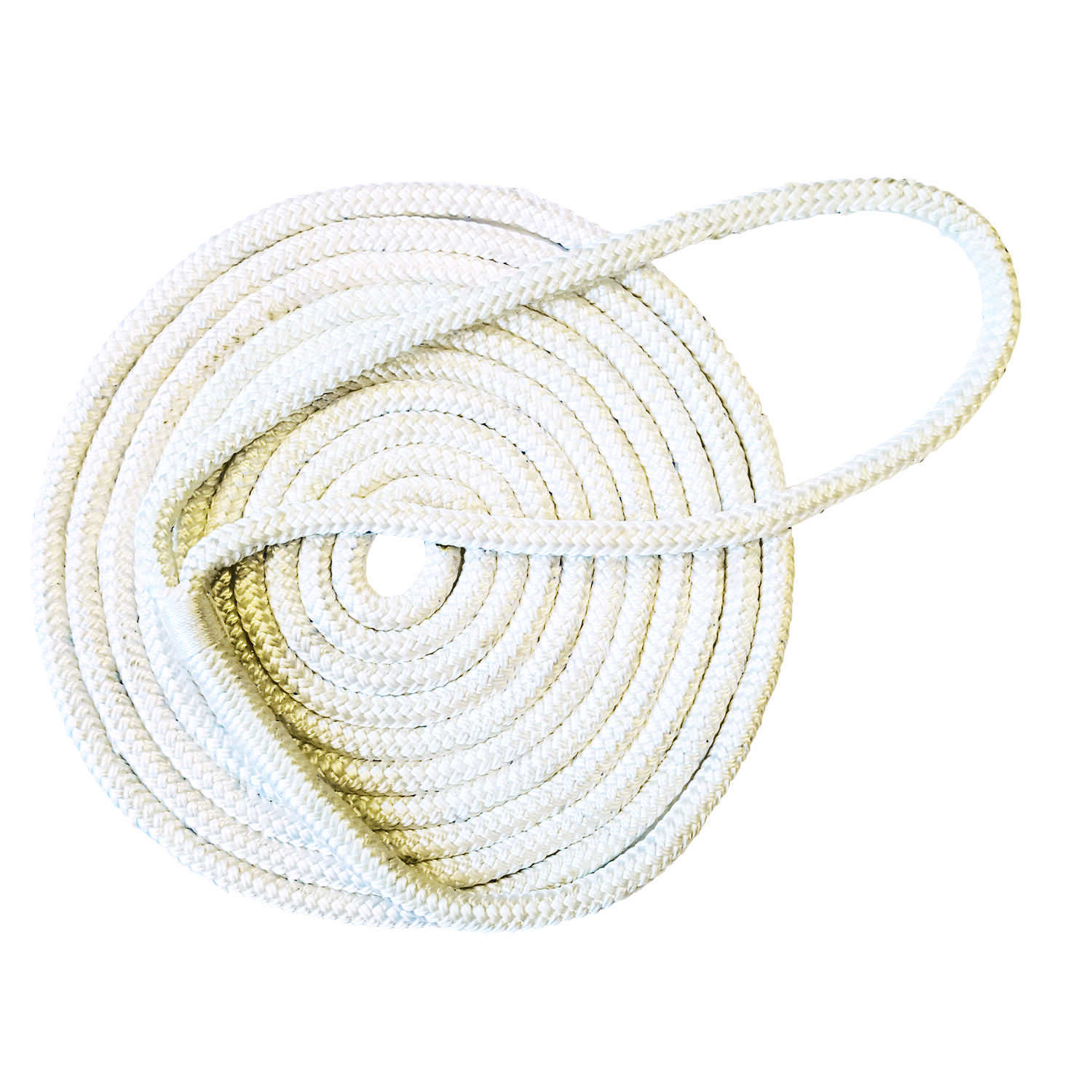 Tommy Docks  Tommy Docks  3/8 in. Dia. x 15 ft. L White  Diamond Braided  Nylon  Dock Line