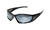 Edge Eyewear Baretti Safety Glasses Silver Mirror Lens Black Frame 1 pk