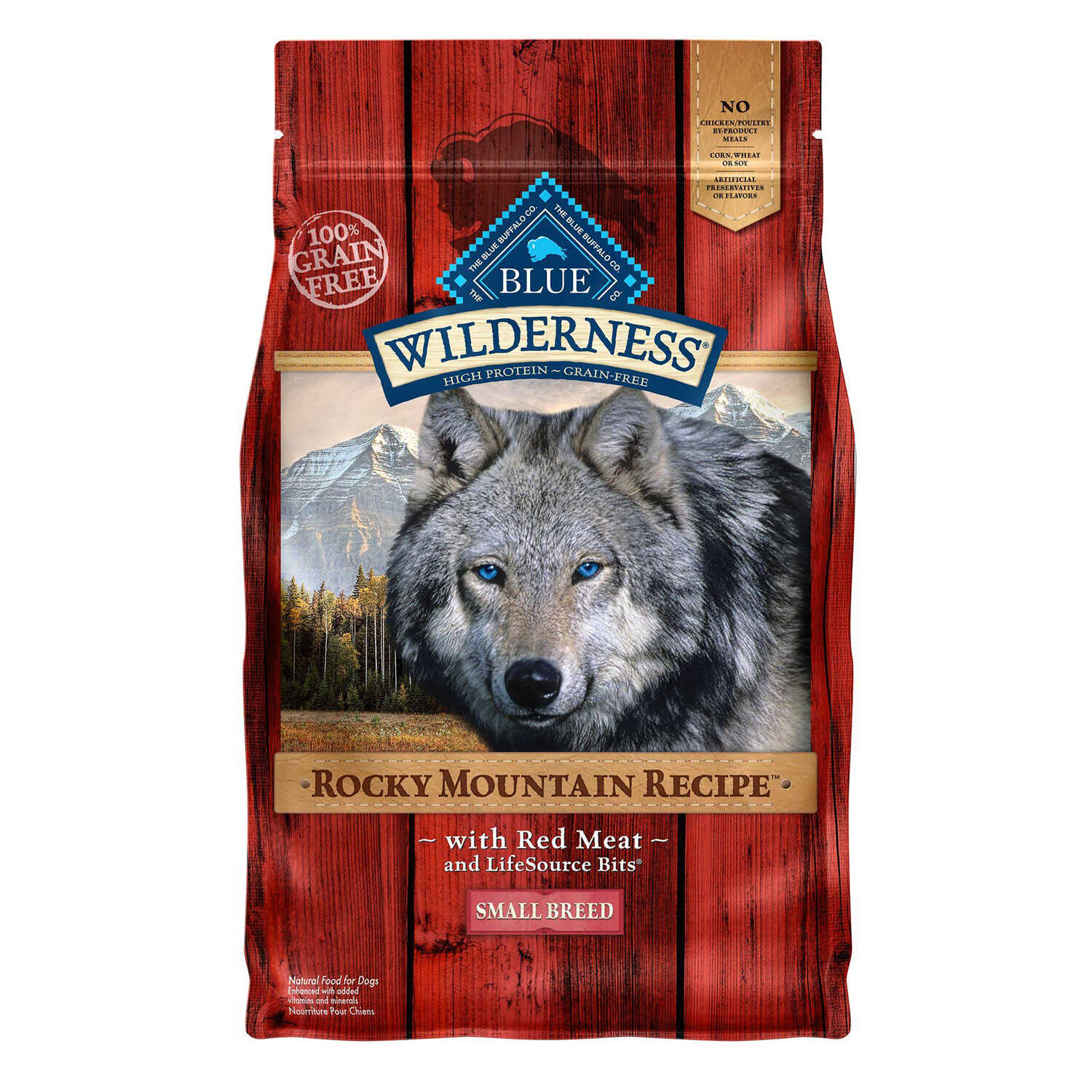 Blue Buffalo  Blue Wilderness  Rocky Mountain Red Meat  Dry  Dog  Food  Grain Free 4 lb.