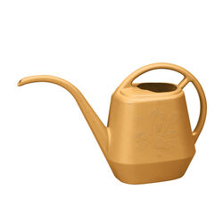 Bloem Earthly Yellow 56 oz. Plastic Aqua Rite Watering Can