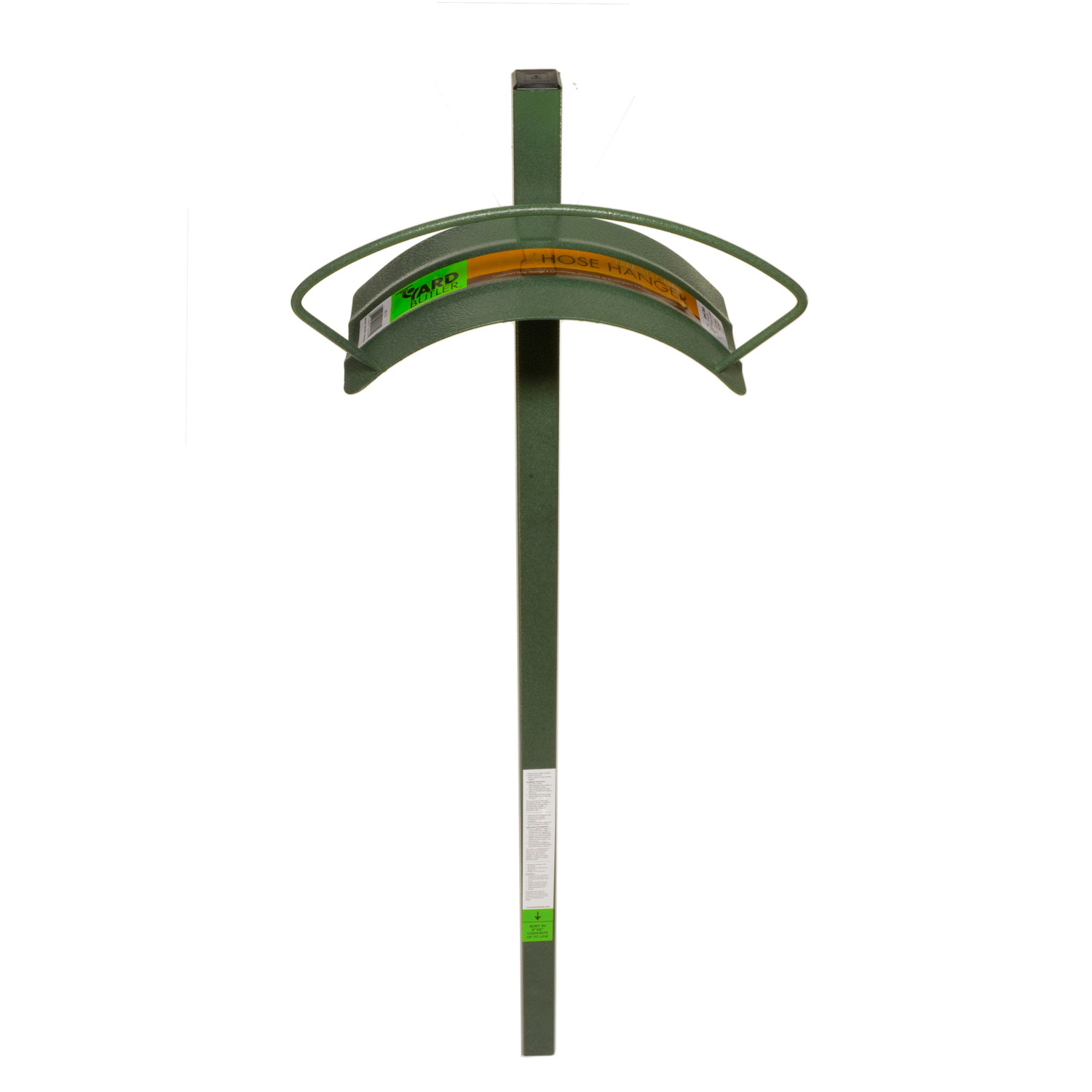 Yard Butler 100 Ft. Post Mount Decorative Hose Hanger Green
