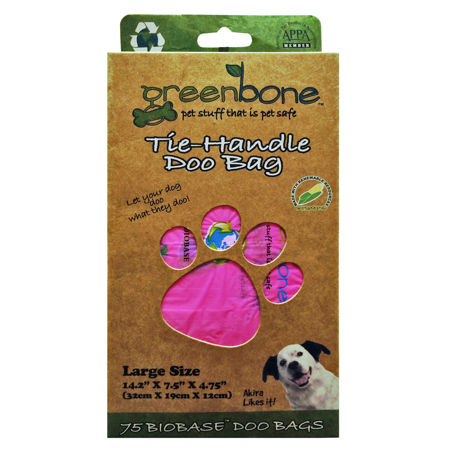 Greenbone  Disposable Pet Waste Bags  75 pk Plastic