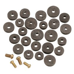 Plumb Pak  Assorted in. Dia. Rubber  Faucet Washers  20 pk