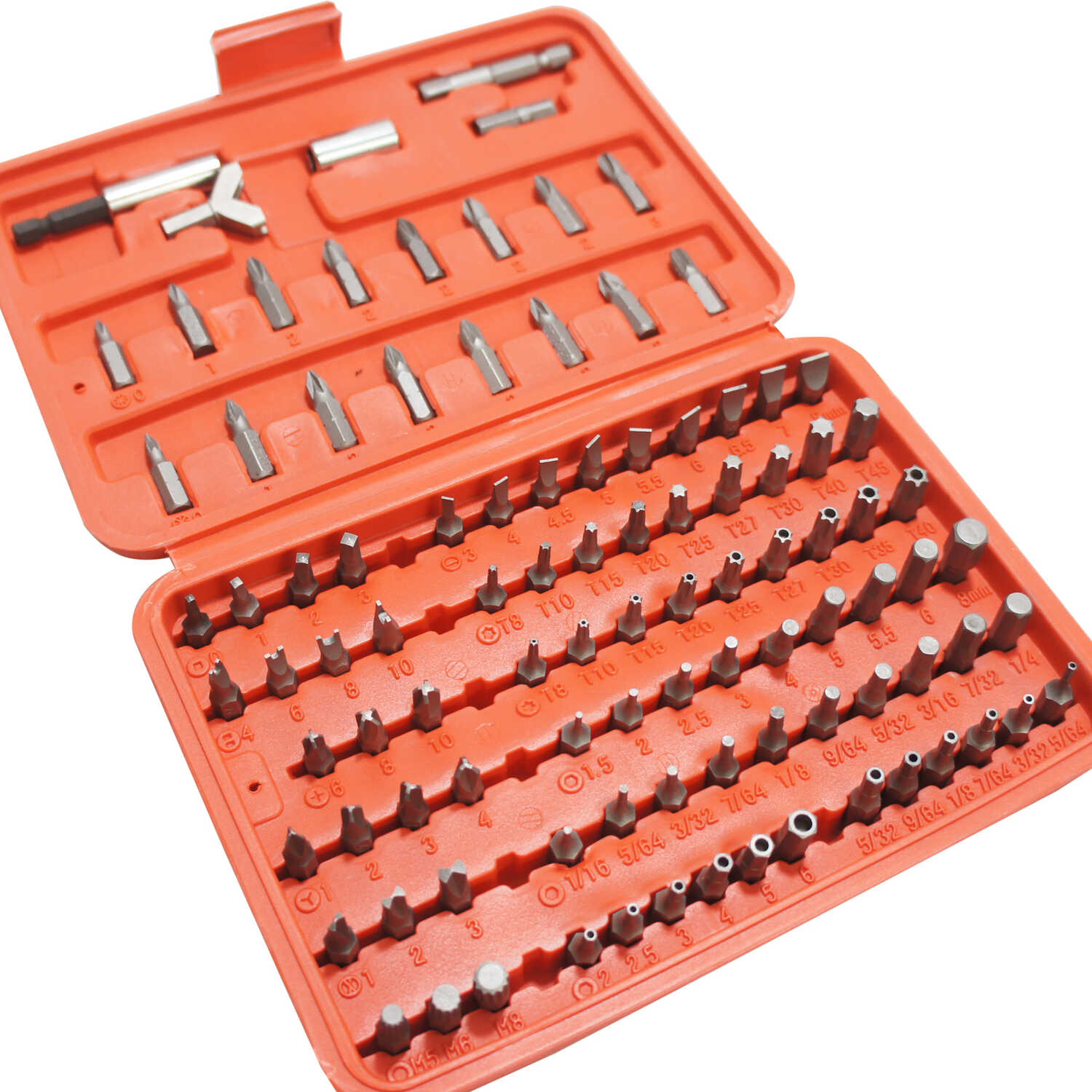 Best Way Tools  Assorted  Screwdriver Bit Set  Carbon Steel  100 pc.