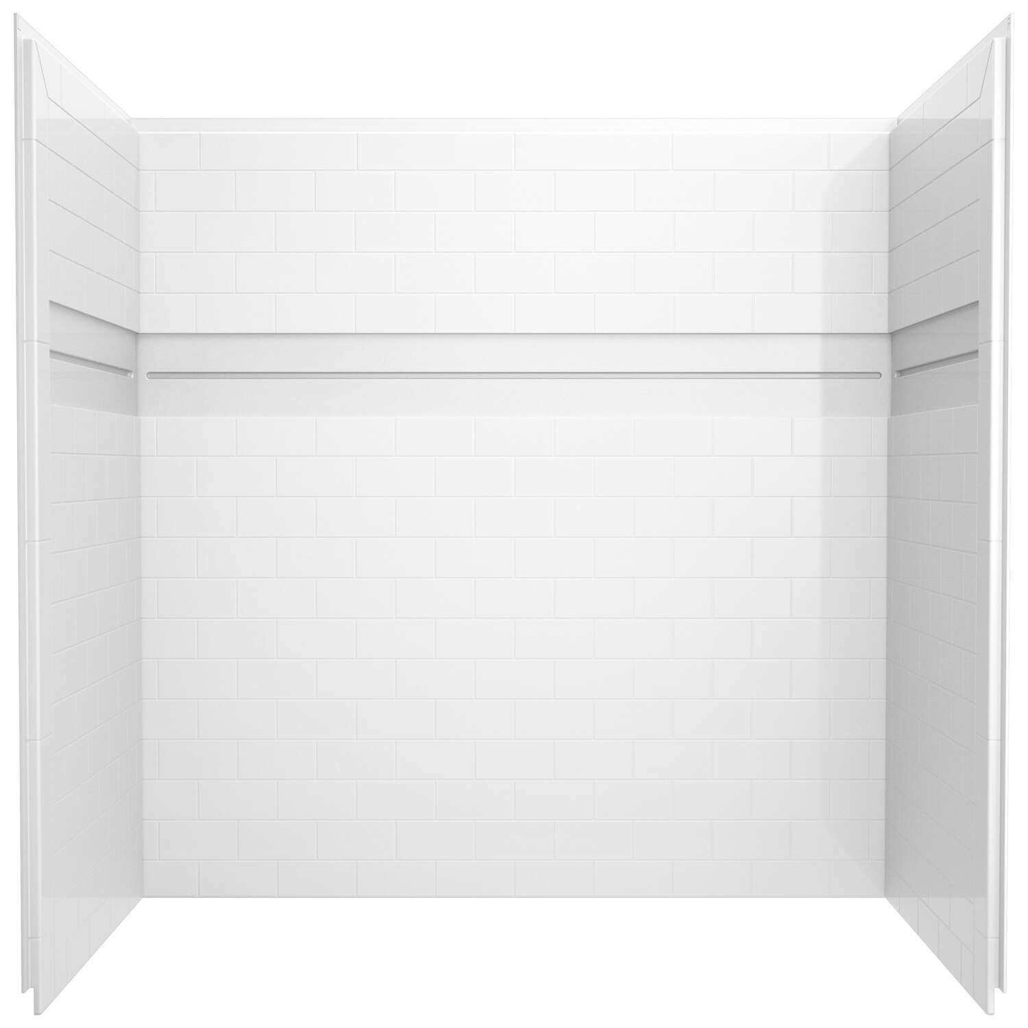 Delta  UPstile  60-7/8 in. H x 59-7/8 in. W x 32-1/8 in. L White  Bath and Shower Surround