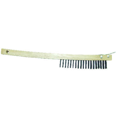 Allway 1 in. W x 19 in. L Carbon Steel Wire Brush with Scraper