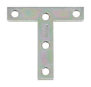 National Hardware  3 in. H x 3 in. W x 0.07 in. D Zinc-Plated  Tee Plate  Steel