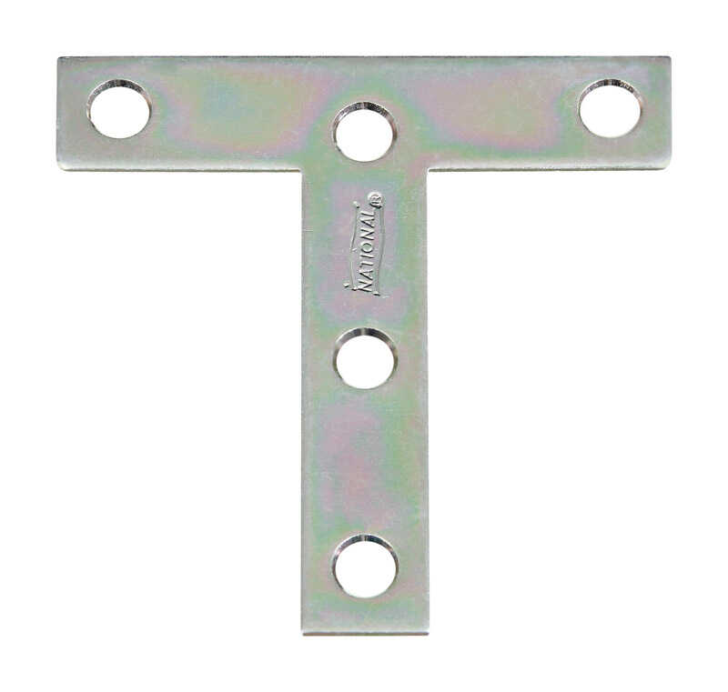 National Hardware  3 in. H x 3 in. W x 0.07 in. D Zinc-Plated  Steel  Tee Plate