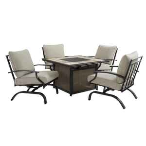 Living Accents  Halsted  5 pc. Steel  Patio Set  Beige
