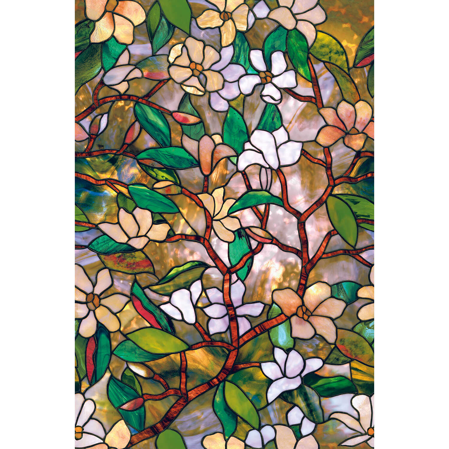 Artscape  Multi-color  Magnolia 24 In. x 36 In.  Indoor  Window Film  24 in. W x 36 in. L