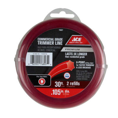 Ace  Premium  Commercial Grade  0.105 in. Dia. x 30 ft. L Trimmer Line