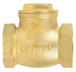 Mueller ProLine 1-1/2 in. Dia. x 1-1/2 in. Dia. FIP Brass Swing Check Valve