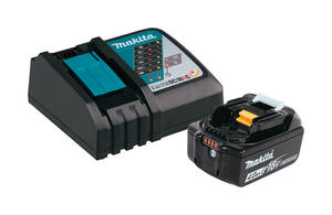 Makita  LXT  18 volt Lithium-Ion  Battery Charger Kit  2 pc.