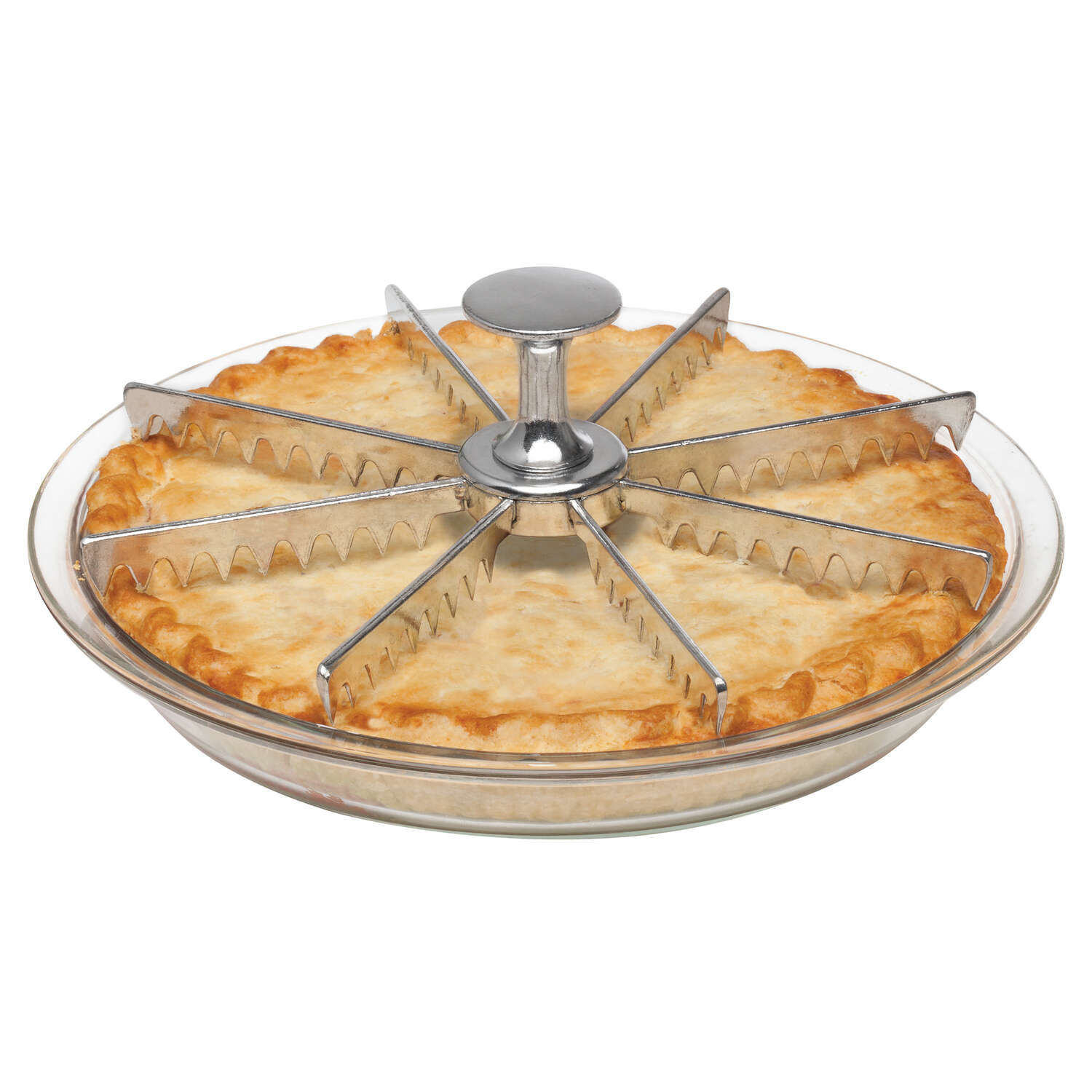 Harold Import  4 in. W x 8 in. L Silver  Pie Cutter