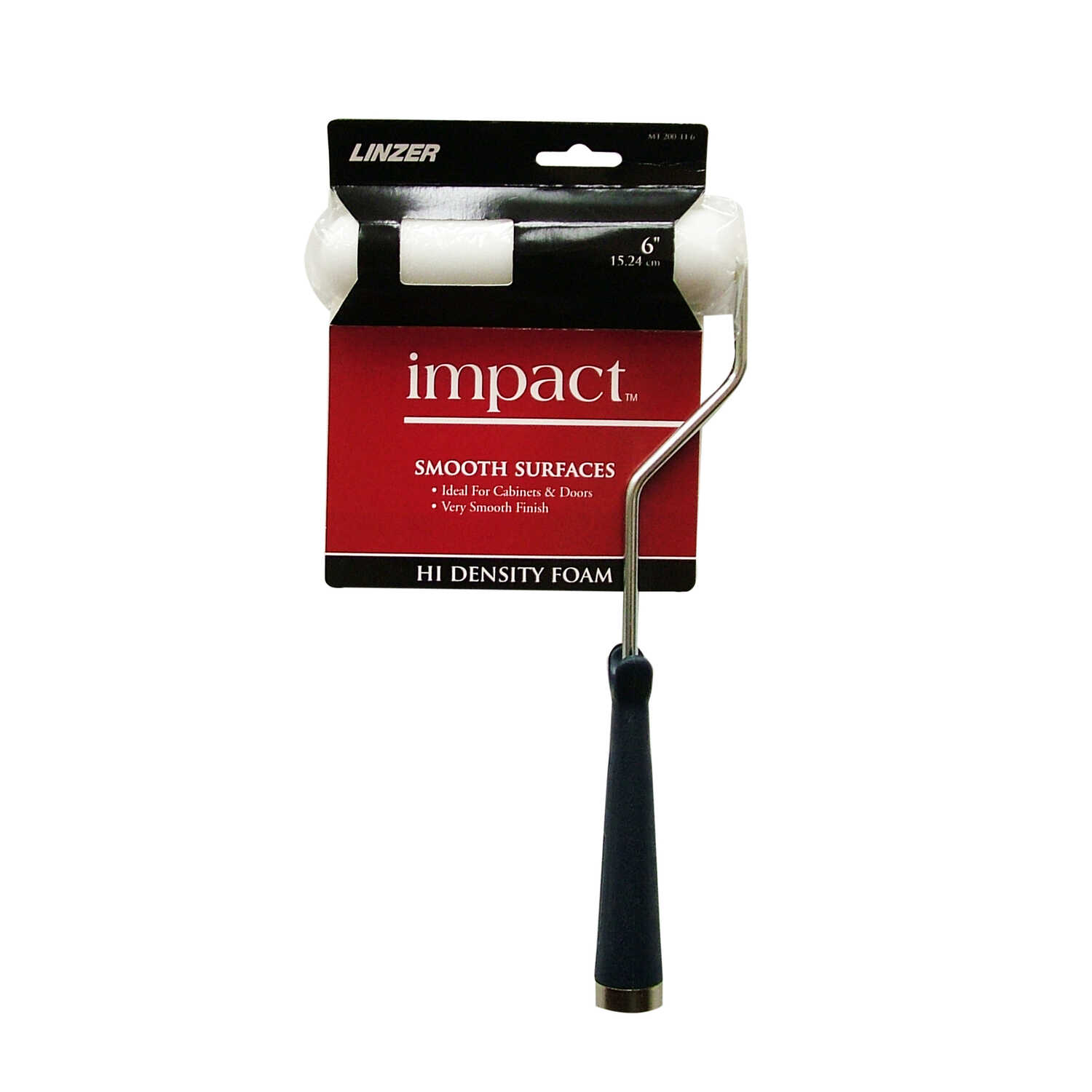 Linzer  Impact  Threaded End 6 in. W Metal/Plastic  Paint Roller Frame and Cover  Mini