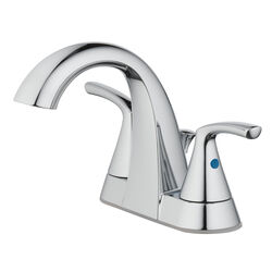 OakBrook  Pacifica  Chrome  Two Handle  Lavatory Pop-Up Faucet  4 in.