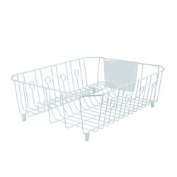 Rubbermaid 17.6 in. L x 13.8 in. W x 5.9 in. H White Steel Dish Drainer