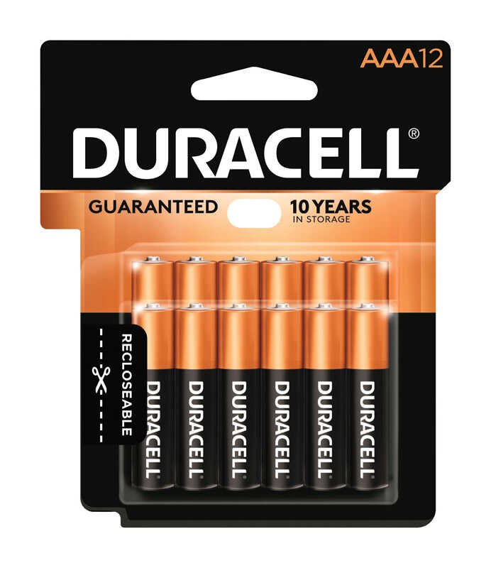 Duracell  Coppertop  AAA  Alkaline  Batteries  12 pk Carded