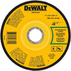 DeWalt 7 in. Dia. x 1/4 in. thick x 5/8 in. Masonry Grinding Wheel 1 pc.