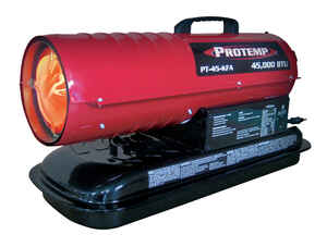 Protemp  1100 sq. ft. Diesel/Kerosene  Forced Air  Portable Heater