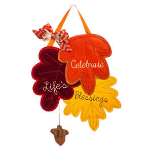 Evergreen  Fall Leaves Blessings  Fall Decoration  17 in. H x 24 in. W x 1-1/2 in. L 1 pk