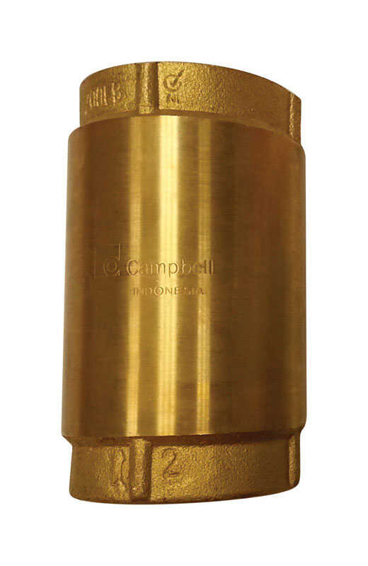 Campbell  2 in.  Yellow Brass  Spring  Check Valve