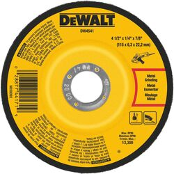 DeWalt 4-1/2 in. Dia. x 1/4 in. thick x 7/8 in. Grinding Wheel 1 pc.