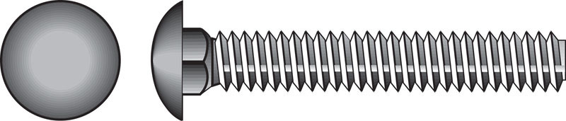 HILLMAN  1/4  Dia. x 4 in. L Zinc-Plated  Steel  Carriage Bolt  100 pk