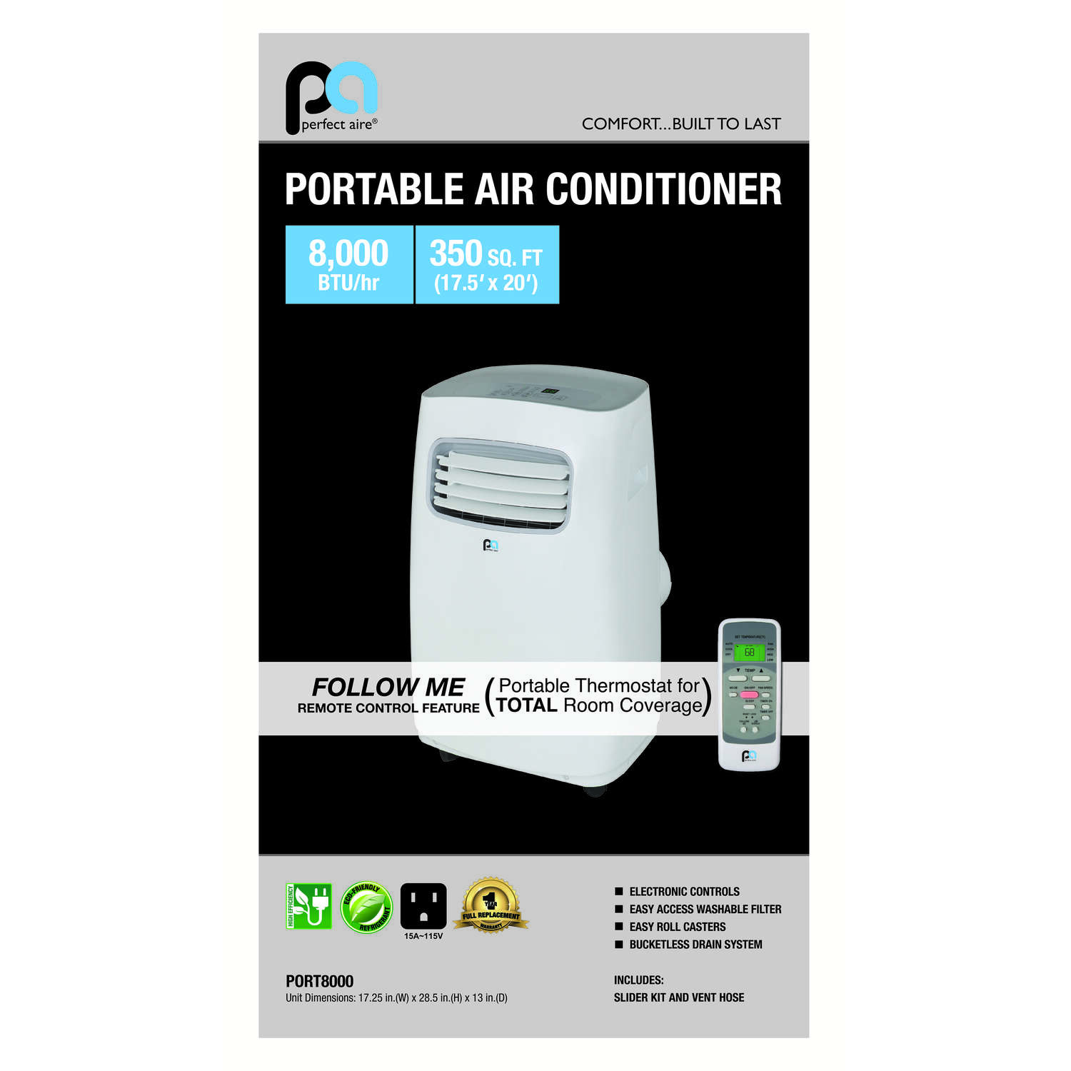 Perfect Aire  300-350 sq. ft. 3  Portable Air Conditioner