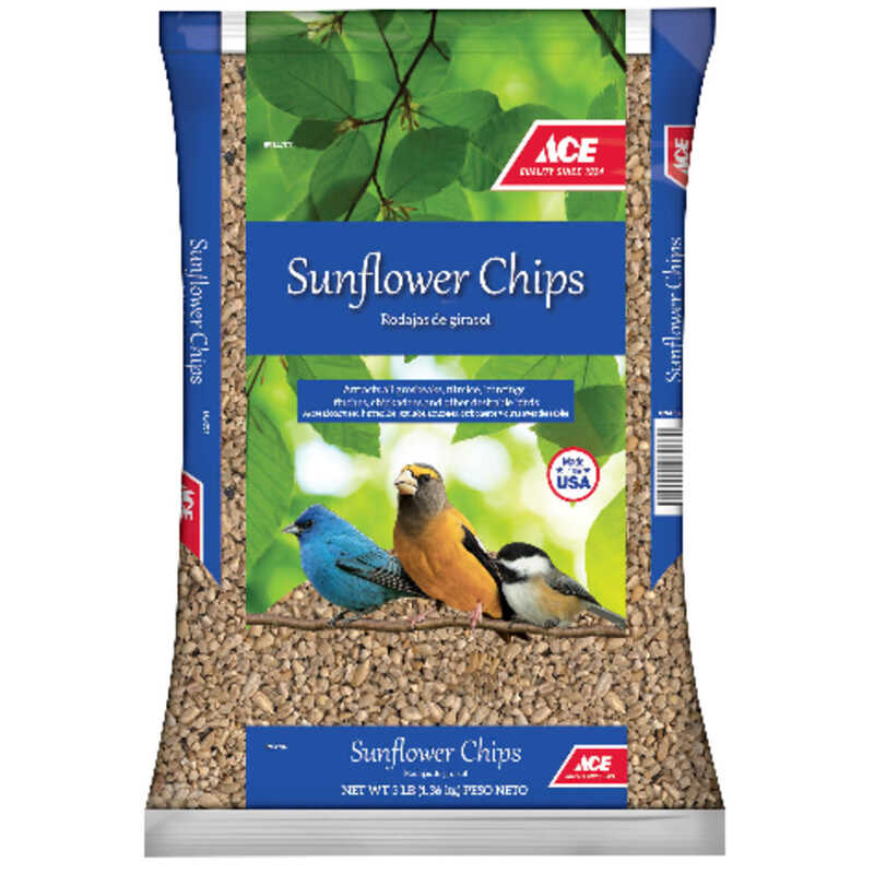 Ace  Assorted Species  Wildlife Food  Sunflower Chips  3 lb.