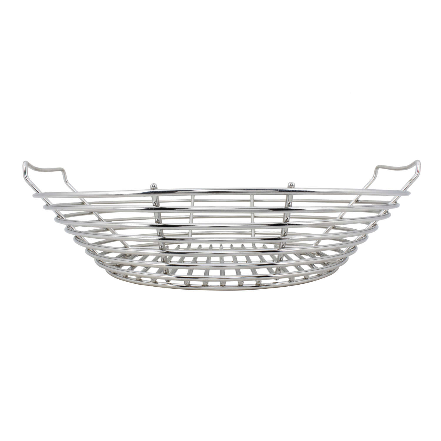 Kick Ash Basket  Stainless Steel  Charcoal Grate  5.6 in. H x 19.1 in. W x 19.1 in. L