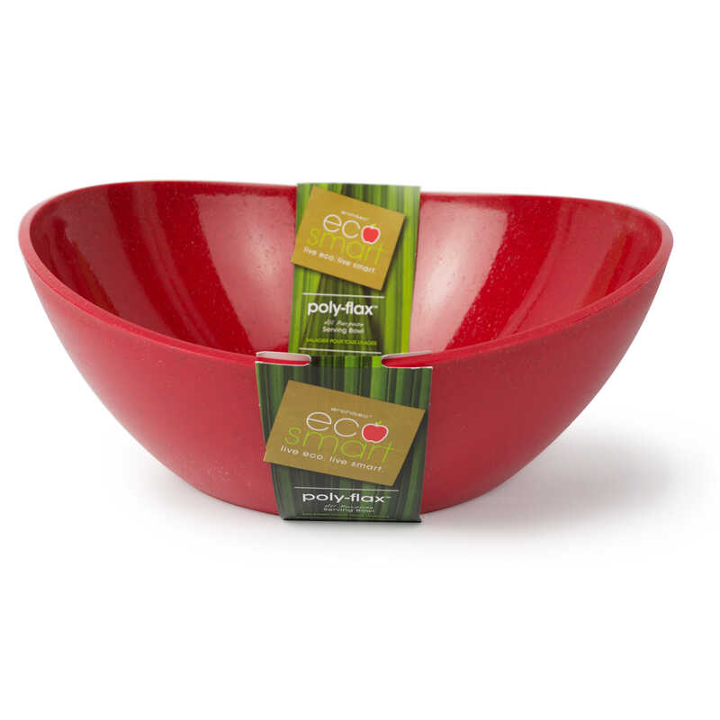 Ecosmart by Architec  14 in. Red  Poly-Flax  Oval  Serving Bowl  1 pk