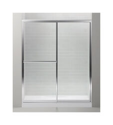 Sterling  Prevail  70 in. H x 59 in. W Silver  Silver  Framed  Shower Door
