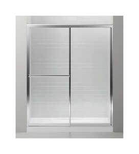 Sterling  Prevail  59.4 in. W x 70 in. H Framed  Silver  Shower Door