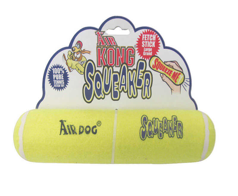 Kong  Multicolored  Fabric  Large  Air Squeaker Dog Toy Stick