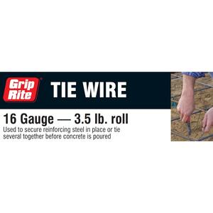 Grip-Rite  Metal  Tire Wire  0.05 in. Dia.