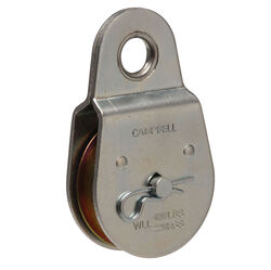 Campbell Chain  2 in. Dia. Zinc Plated  Steel  Fixed Eye  Single Sheave Rigid Eye Pulley