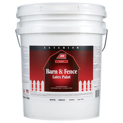 Ace Flat White Barn and Fence Paint Exterior 5 gal.
