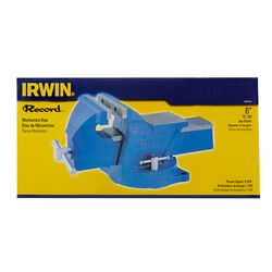 Irwin Record 6 in. Cast Iron Mechanics Vise 120 deg. Swivel Base