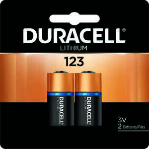 Duracell  Lithium  123  3 volt Camera Battery  DL123AB2PK  2 pk