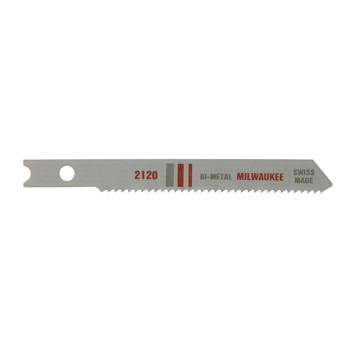 Milwaukee  2-3/4 in. Bi-Metal  U-Shank  Metal cutting  Jig Saw Blade  18 TPI 5 pk