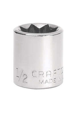 Craftsman  1/2 in.  x 3/8 in. drive  SAE  8 Point Standard  Socket  1 pc.