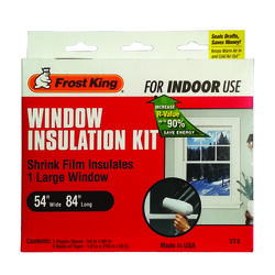 Frost King Clear Indoor Window Film Insulator Kit 54 in. W x 84 in. L