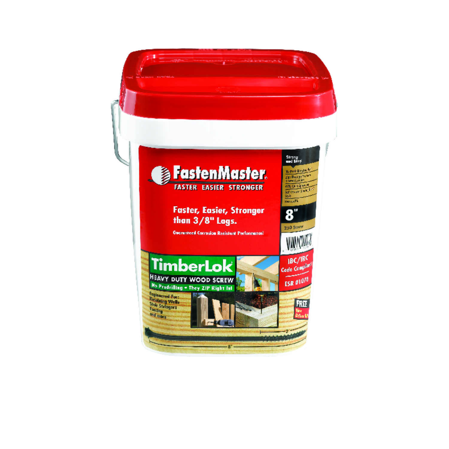 FastenMaster  TimberLok  No. 10   x 8 in. L Epoxy  Steel  Wood Screw  Hex Head 250 pk