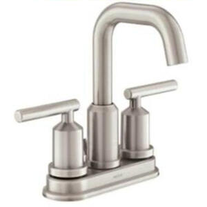 Moen  Gibson  Brushed Nickel  Two Handle  Lavatory Faucet  4 in.