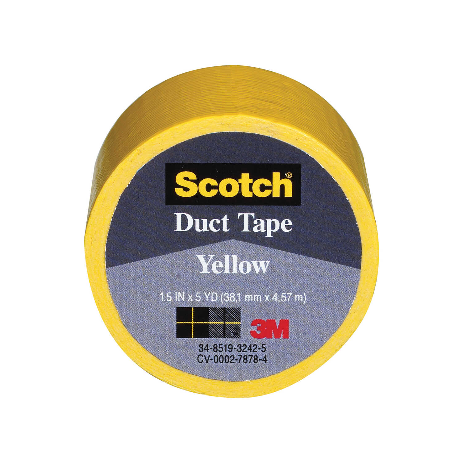 Scotch  170  L x 1.5  W Duct Tape  Yellow