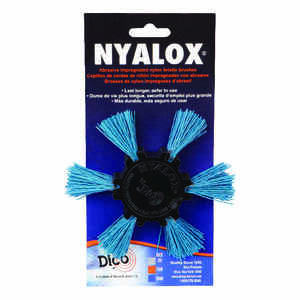 DICO NYALOX  4 in. Dia. x 1/4 in.  Aluminum Oxide  Mandrel Mounted Flap Brush  240 Grit Fine  2500 r