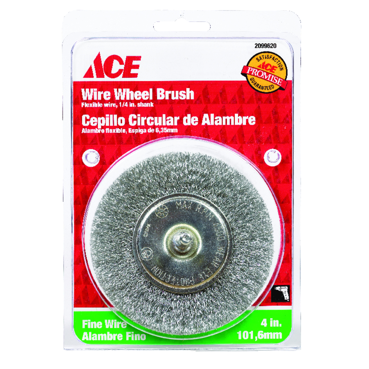 Ace  4 in. Crimped  Wire Wheel Brush  Steel  4500 rpm 1 pc.