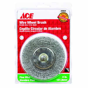 Ace  4 in. Fine  Crimped  Wire Wheel Brush  Steel  4500 rpm 1 pc.